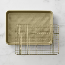 Williams Sonoma Goldtouch® Nonstick Quarter Sheet Pan with Baking Rack | Williams Sonoma
