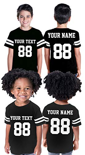 Custom Cotton Toddler Youth Jersey - Personalize Your 2 Sided Team Uniform Black