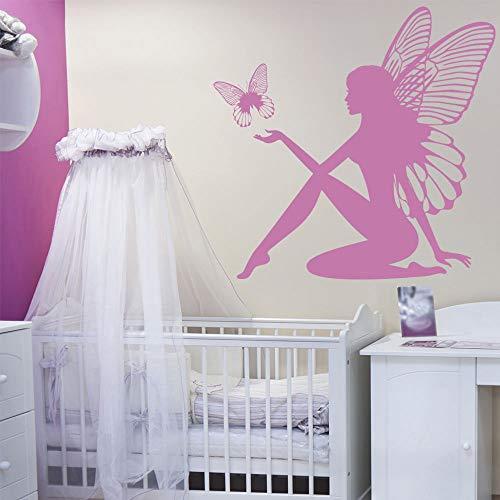 Geiqianjiumai Wall art deco ontwerp met muur art deco meisje slaapkamer kinderkamer decoratie en gemeenschappelijke vriendelijke vinyl behang