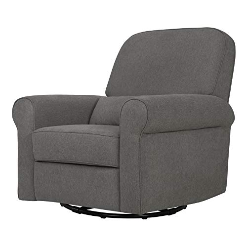 Davinci Ruby Recliner and Swivel Glider in Dark Grey, Greenguard Gold Certified