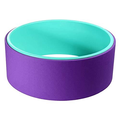 YMYGCC Ring Pilates Yoga Profesional Anillo de aro Fuerte Roller Yoga Torna Barella Balance Accesorios Equipo Fitness Wheel Yoga (Color : Purple)