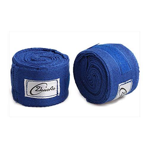 Sipaluo Baumwolle 5m Muay Thai Sanda Boxbandage, Sportschweißbandage Hand gewickelt mit Handhandschuhen Sanda, Unisex Adult Boxing Hand Wraps,Blue,5m