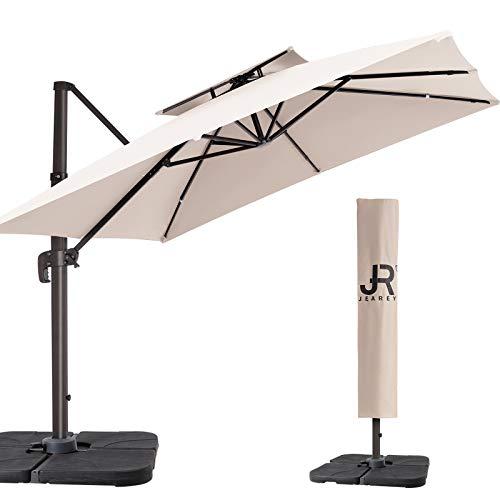 JEAREY 12FT Patio Umbrella Double Top Deluxe...