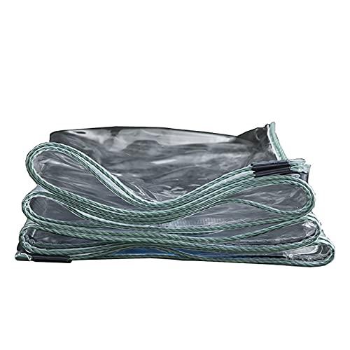 TLMYDD Cubierta de Hoja Transparente Impermeable de Lona Transparente para Muebles de jardín, aparador, trampolín, Madera, automóvil, Camping o jardinería