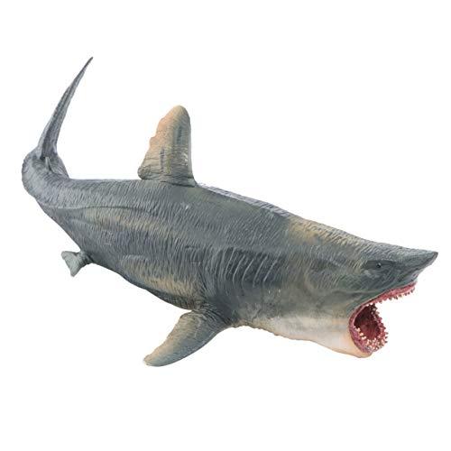 BESPORTBLE Kunststoff Hai Modell Lebensechte Megalodon Hai Ozean Tier Handwerk Ornament Seefisch Bildung Kognitive Spielzeug für Kinder Kinder