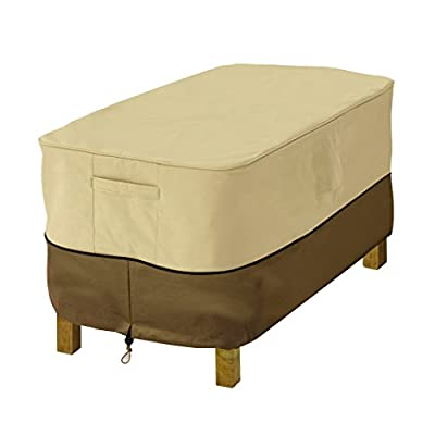Classic Accessories Veranda Water-Resistant 38 Inch Rectangular Patio Ottoman/Side Table Cover