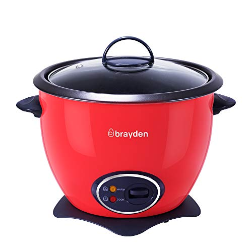 Brayden V18 1.8 L Electric Rice Cooker Raspberry Red