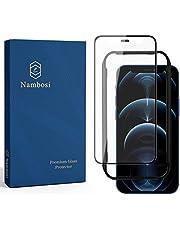 Nambosi Matte Screen Protector for iPhone 12 Mini 5.4 Inch Anti Glare Anti Fingerprint Full Coverage Tempered Glass Film Black