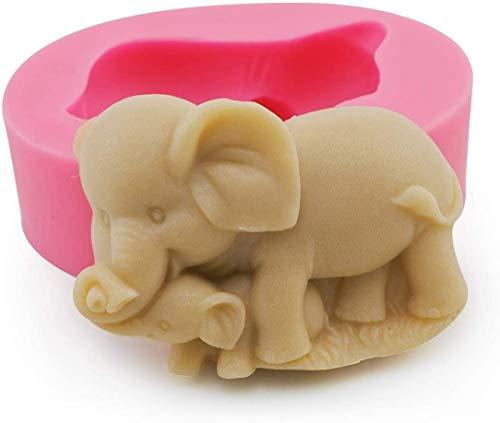 3D-Elefanten-Form, Kuchenform, Fondant, Kuchen, Eiscreme, Seife, Dekoration, 3D-Silikonform, für Kerzen, Schokolade, Mousse, Pudding, Zuckerguss, Cupcake-Topper, Formen, handgefertigt