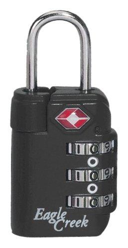 Eagle Creek Zahlenschloss für Gepäck Travel Safe TSA Lock Vorhängeschloss für die Reise, graphite