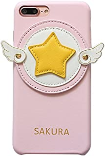 Ultra Slim Fit Smooth Soft Pink Yellow Star Wings Case for iPhone 7+ 7Plus 8Plus Large Size 5.5