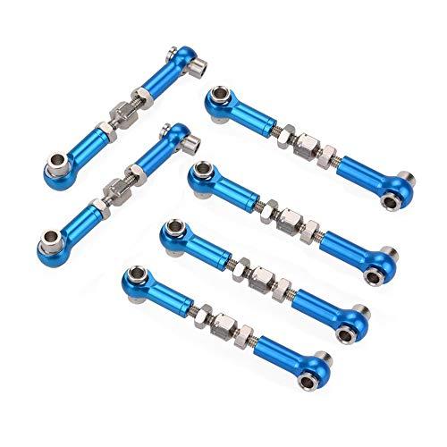 6 unids aleación de aluminio servo enlace tire Rod para HSP Redcat ZD Racing Hpi LRP para Wltoys Drift Car Monster Truck Buggy