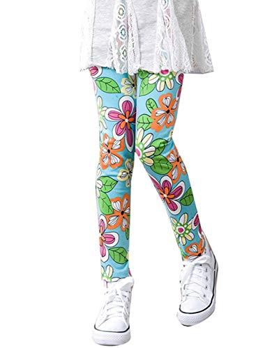 GELing Leggings con Estampado Floral para niñas Pantalones Leggins Largos 4 140cm
