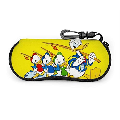 Hdadwy Eyeglass Case, Don Donald Fauntleroy Duck Portable Travel Zipper Sunglasses Cases Reading Glasses Bag Guard Set
