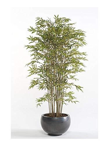 Artplants Set 2 x Bambú de plástico SATOKO Troncos Reales, 180cm - Bambú Artificial/Planta de Interior