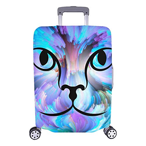 InterestPrint Watercolor Cat Painting Travel Luggage Cover Suitcase Baggage Protector Fits 26'-28' Luggage
