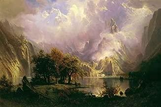 Rocky Mountain Landscape Poster Print by Albert Bierstadt (12 x 18)