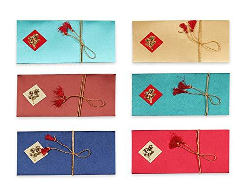 DEVIKA Premium Shagun Gift Envelop voor contant geld (Pack van 6) 7.5