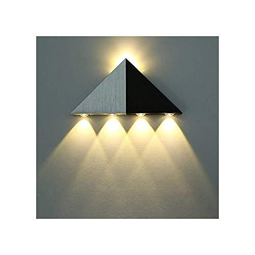 Lightess Moderne 5W LED Wandleuchte Innen Sconce Up und Down wandlampe Spot Light Dreieck Perfekt für Wohnzimmerleuchten Schlafzimmer Lampen Flur LED Nachtlicht (Warmweiß)