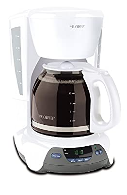 Mr. Coffee Simple Brew 12-Cup Programmable Coffee Maker, White