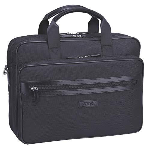Ronts Black Nylon Briefcase for Men 14 Inch Laptop Messenger Bags Business Tote Shoulder Handbags