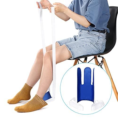 Sockenhilfe Sock,Sockenhilfe Ist Leicht und Leicht zu Tragen,Anziehhilfe für Socken und Strümpfe, Kann Beim An- Und Ausziehen von Socken Helfen