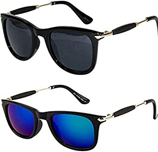 dad4b62f9 Y&S Golden Stick Wayfarer Rubber Temple Stylish Branded Goggles/Sunglasses  for Men's and Women's(
