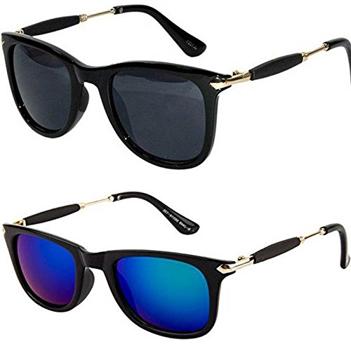3d4d79ff89 Y S Golden Stick Wayfarer Rubber Temple Stylish Branded Goggles Sunglasses  for Men s and Women s(