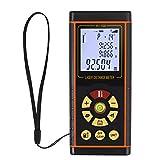 Proster Laser-Entfernungsmesser Digital Laser Distance Range Finder Messwerkzeug mit Wasserwaage und Hintergrundbeleuchtung LCD bis zu 100m