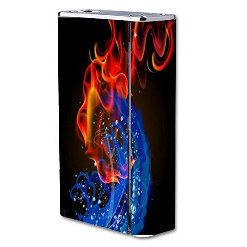 Decal Sticker Skin WRAP Sticker Skin Print Fire Water Vape Bright Colored Smoke Swirls for Smok X Cube II 160W TC