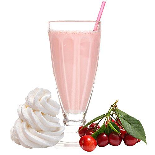 Amarena Sahne Kirsch Geschmack Eiweißpulver Milch Proteinpulver Whey Protein Eiweiß L-Carnitin angereichert Eiweißkonzentrat für Proteinshakes Eiweißshakes Aspartamfrei (200 g)