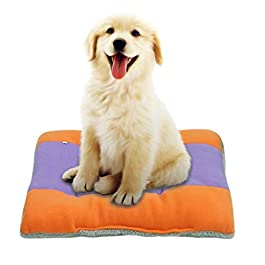 Aimik Pet Sleeping Beds, Comfortable Plush Kennel Dogs Pet Litter Deep Sleep PV Cat Litter Sleeping Beds Deluxe Pet Beds Machine Washable Self-Warming for Medium Small Dogs Cats