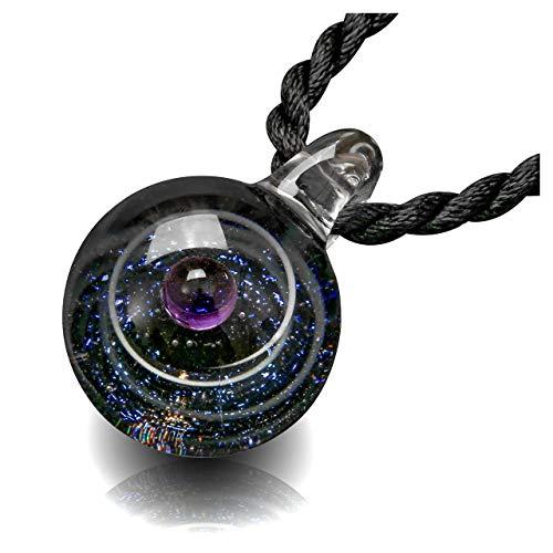 Jovivi Collar de mujer con colgante de Nebuloso Galaxia planeta Universo de cristal, dos tipos de cadena, color bonito, regalo especial para amigos y novias