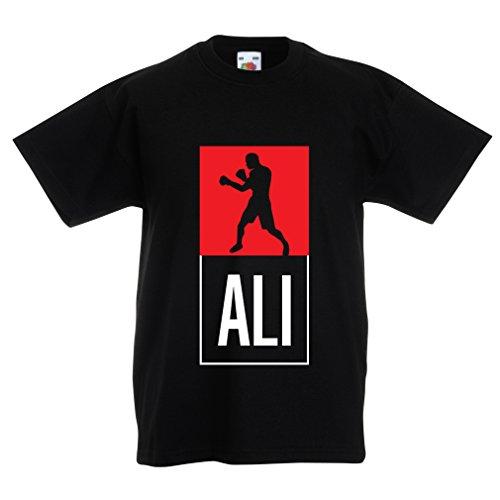 Camisas para niños Boxeo - en el Estilo de Lucha para Entrenamiento, Deportes, Ejercicio, Funcionamiento, Ropa de Fitness (7-8 Years Negro Multicolor)