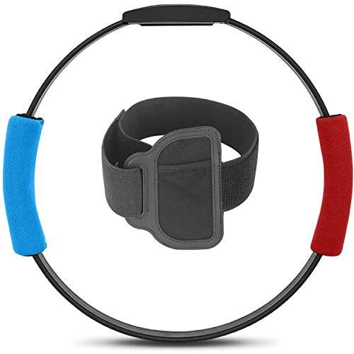 RUIXINBC Ring Fit Adventure para Nintendo Switch Accesorio, 1 Anillo De Fitness 1 Correa para La Pierna Y 2 Asas De Tela para Ring-con, Juego De Aventura En Línea Fitness for Yoga,Blue Red