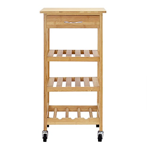Oceanstar Design Group Bamboo Kitchen Trolley