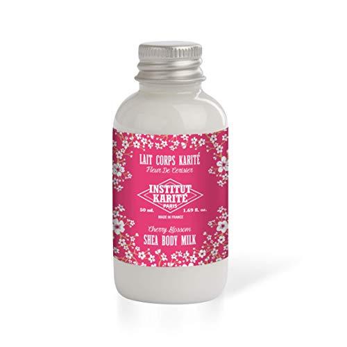 Institut Karité Paris – Lait corps hydratant Beurre de Karité parfumé pour peau sèche – Fleur de Cerisier 50ml – Shea Butter Body Milk