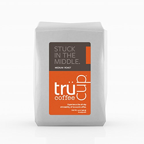 trücup Low Acid Coffee- Stuck in the Middle Medium Roast- French Press-Coarse Ground, 2 lb- Smooth, Mellow Coffee - Can Be Gentle on the Stomach