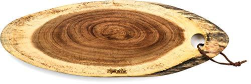Style de Vie Serveerplank, Acaciahout, Ovaal middelgroot, Geschikt voor borrel, tapas of als broodplank, Behandeld met natuurlijk olie