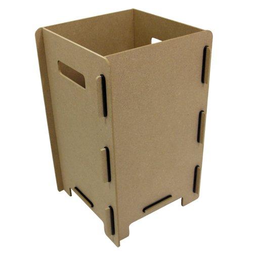 Werkhaus PP 9199 Holzbox für Photohocker ca. 24 x 40 x 24 cm Aufbewahrungsbox für Fotohocker