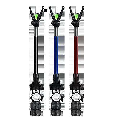robots master Práctico Soporte Profesional Soporte de Pesca telescópico Soporte de Barra de Carbono Duradero para Soporte portátil Plegable Accesorios de Soporte práctico Herramienta (Color : Black)