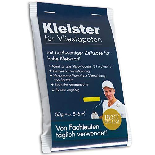 Tapetenkleister Profi Vlies Kleister Fototapete Tapete 200g (ca. 20-24 m2) - Ideal für Fototapeten, optimales & praktisches Dosieren 4 x 50g Päckchen