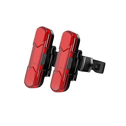 Geeke LED Fahrradrücklichter,StVZO Zugelassen IPX4 Wasserdicht Auflagbar Akku mit USB,hochintensive LED Rücklichter können an jedem Fahrrad oder Helm montiert Werden (2 Stück)
