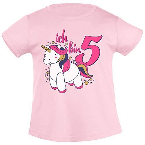 Ich Bin Vijff eenhoorn Verjaardag meisjes T-Shirt