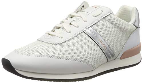 HUGO Adrienne-seq, Zapatillas para Mujer, Blanco (White 100), 40 EU