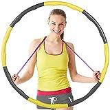 Nobebird Hula Hoop Fitness, Hula Hoop de Espuma Extraíble de Ocho Seccionesde 72-95 cm, 1 kg de Hula Hoop Deportivo, Adecuado para Adolescentes, Entrenamiento de Adultos, Masajes y Aeróbicos