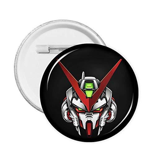 Gun-Dam Round Badge Chest Pins Brooch for Jackets Hats Backpacks Decor 1 Pcs/5 Pcs/12 Pcs