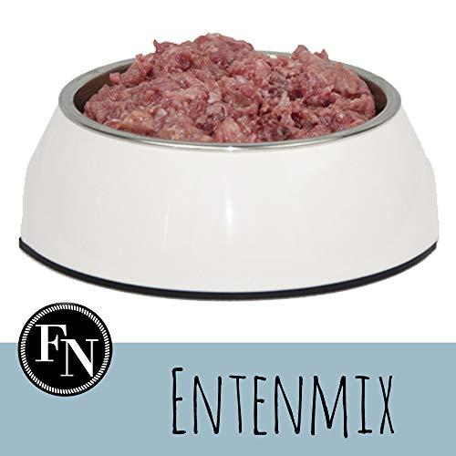 Frostfutter Nordloh > Ente incl. Barföl und Vitaminen < 20 x 500 g, Barf Hundefutter gefroren, Frostfleisch-Paket, Gefrierfutter-Set für Hunde, Barf Frischfleisch
