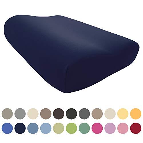 EddaLux Bezug für Tempur Shape S/M/L Schlafkissen| Hochwertiger Jersey-Kissenbezug für Nackenstützkissen | 50x31 cm | 50x30 cm | 100% Baumwolle | in vielen Farben