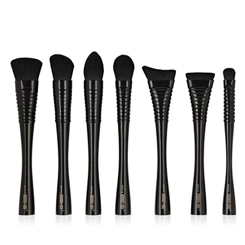 FENXIMEI Rough Handle Make-up Brush Set Gereedschap Make-up Nylon Cosmetische Borstel Oogschaduw Borstel 7 In 1